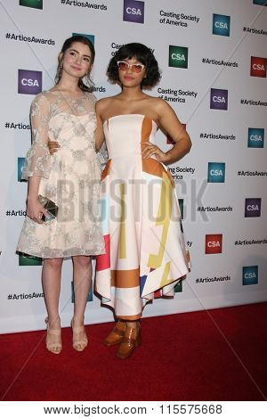 LOS ANGELES - JAN 21:  Emily Robinson, Kiersey Clemons at the 31st Annual Artios Awards at the Beverly Hilton Hotel on January 21, 2016 in Beverly Hills, CA