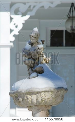Snowy Statues