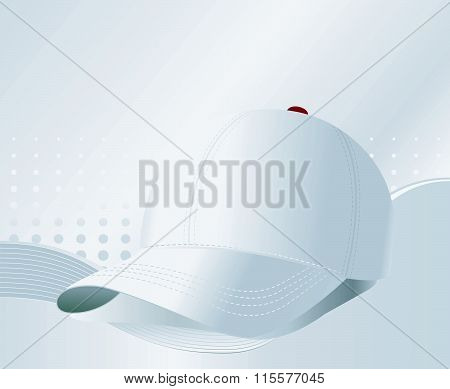 Vector baseball cap on silver background