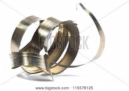 Lathe Spiral Metal Shavings