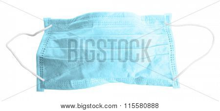 Disposable face mask isolated on white