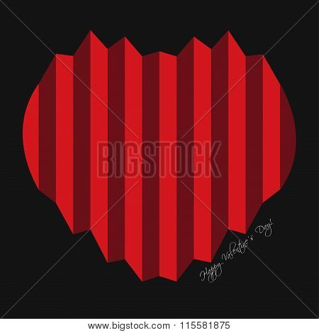 Valentines Greeting Card - Harmonica Hearts