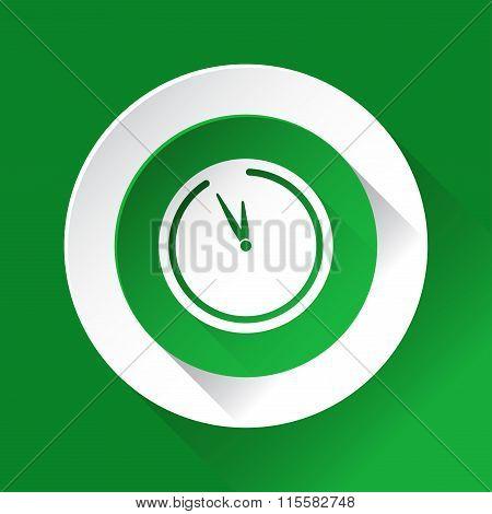 Green Circle Shiny Icon - Last Minute Clock