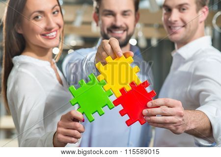 Skillful business partners are ready to work together