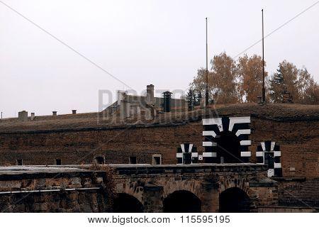 Terezin memorial in Czech Republic, historic building