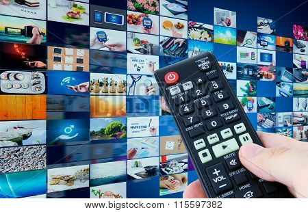 Television Broadcast Multimedia Abstract Composition