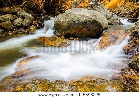 Chaeson Waterfall In Autumn Season, Lampang Province, Thailand