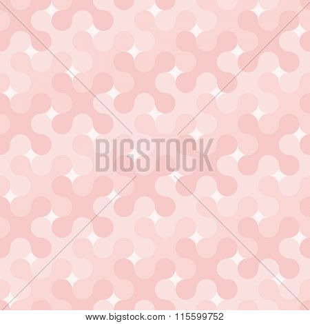Vector seamless background in ROSE QUARTZ color of the year 2016
