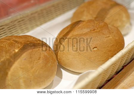 Soft Roll Bread For Breakfast Meal