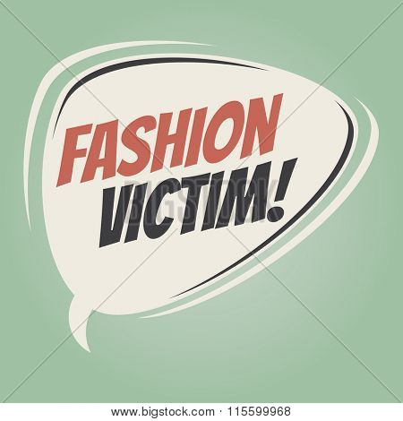 fashion victim retro speech balloon