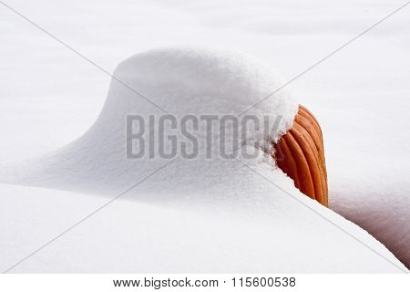 Snow-Covered Pumpkin