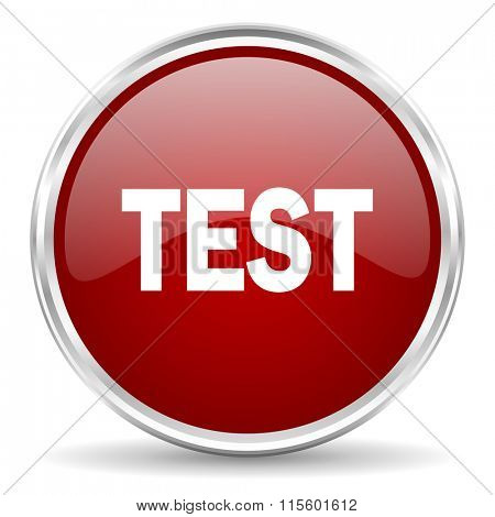 test red glossy circle web icon