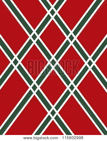 Vector Green and Red Argyle Pattern