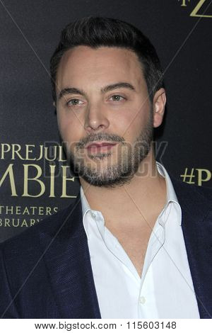 LOS ANGELES - JAN 21:  Jack Huston at the Pride And Prejudice And Zombies Premiere at the Harmony Gold Theatre on January 21, 2016 in Los Angeles, CA