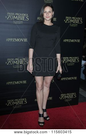 LOS ANGELES - JAN 21:  Vanessa Cloke at the Pride And Prejudice And Zombies Premiere at the Harmony Gold Theatre on January 21, 2016 in Los Angeles, CA