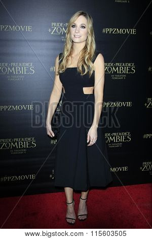 LOS ANGELES - JAN 21:  Joanne Froggatt at the Pride And Prejudice And Zombies Premiere at the Harmony Gold Theatre on January 21, 2016 in Los Angeles, CA