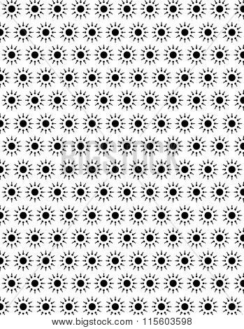 Vector Black and White Atom Pattern