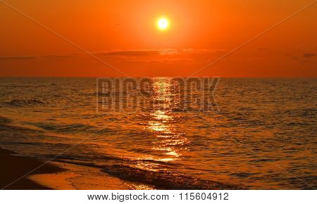View Of The Sea During Sunset, Sunrise