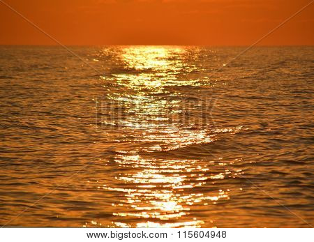 Solar Path On The Sea