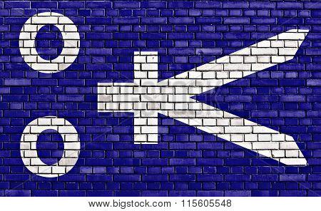 Flag Of Republic Of Zamboanga Painted On Brick Wall