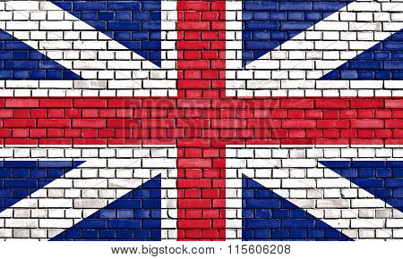 Old Union Flag Painted On Brick Wall