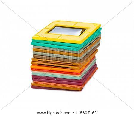 Photo frames for slide isolated on white background