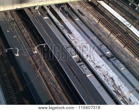 Trains and railway tracks