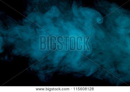 Abstract Aquamarine Smoke Hookah.