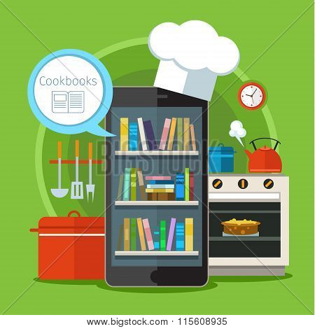 Concept of searching for recipes in web