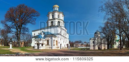 Chernigov, Ukraine - April 13, 2012: Panoramic view of the Collegium