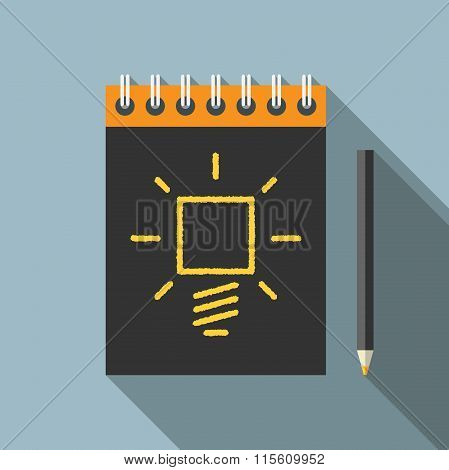 Idea, Pencil And Notebook