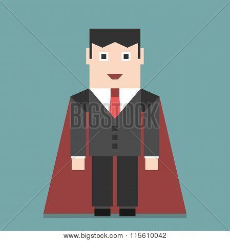 Successful Businessman Super Hero