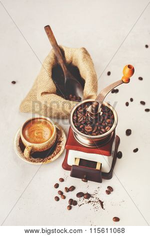 Coffee. Food Background