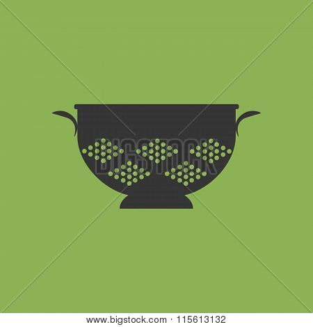 Kitchen Colander Strainer Icon
