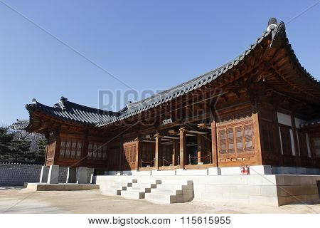 Gyeongbok Palace Wood Building Landmark Tourism In Korea