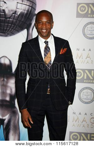 LOS ANGELES - JAN 23:  J August Richards at the 47th NAACP Image Awards Nominees Luncheon at the Beverly Hilton Hotel on January 23, 2016 in Beverly Hills, CA