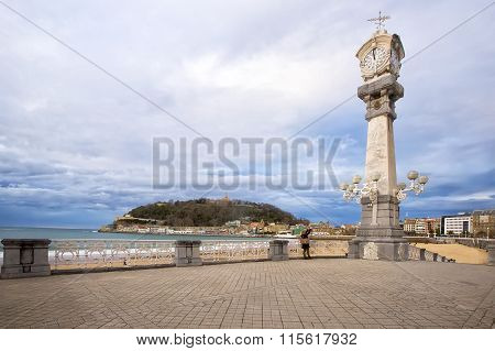 Watches On The Beach Promenade In San Sebastian