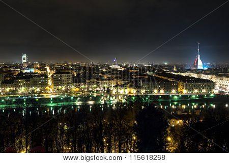 Turin by night, Italy