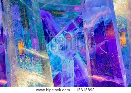Giant Colored Ice Crystals