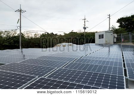 Solar panel at roof top