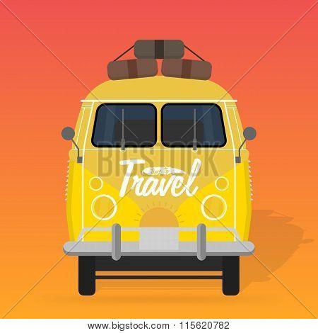Camper van. Summer vacation.