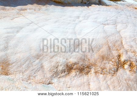 Abstract  Pamukkale   Asia The Old   And Travertine Water