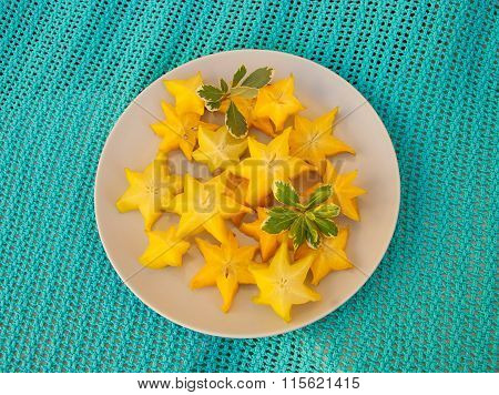 Slices of carambola