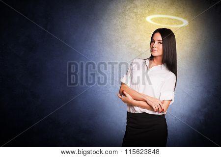 Businesslady with nimbus