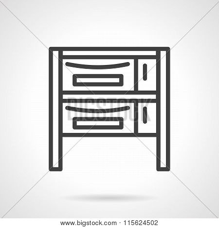 Oven bakery simple black line vector icon
