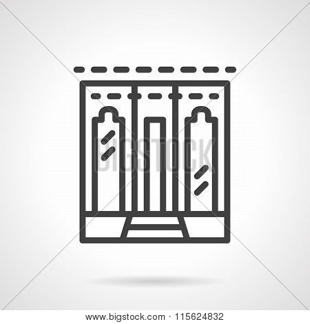 Restaurant facade simple line vector icon.