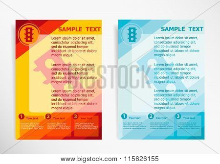 Stoplight  On Abstract Vector Modern Flyer
