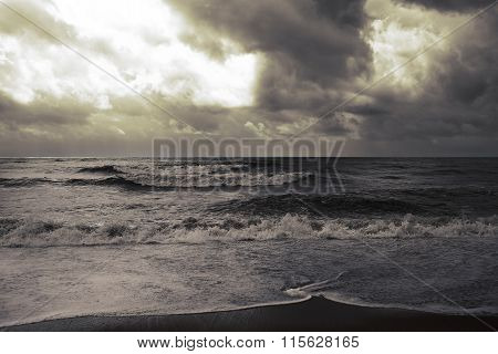 Stormy Weather On The Sea