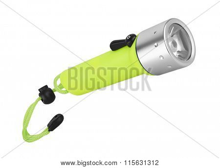 Diving Flashlight, isolated on white background