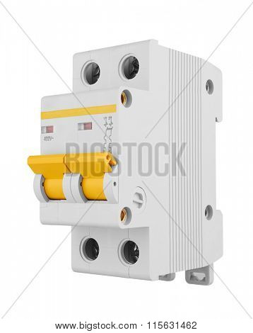 Automatic electricity switchers, isolated on white background
